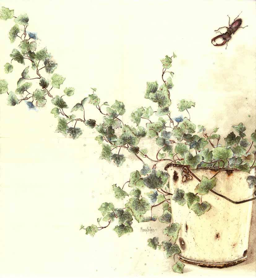 Decoupage Paper Napkins Of Ivy Pot In The Garden Chiarotino