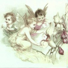 3 Cupids with Love Letters |Fairy Napkins|Cupid Napkins
