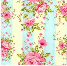 Decoupage Napkins |Rose Napkins | Pink Roses with Stripes |Paper Napkins for Decoupage