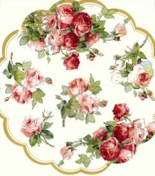 Decoupage Napkins | Round Paper Napkins |Pastel Roses | Paper Napkins for Decoupage