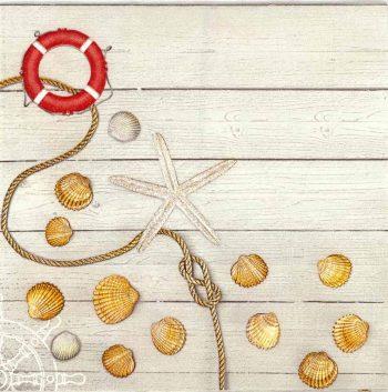 Decoupage Napkins |Toy Sailboat with Seashells | Beach Napkins | Summer Napkins |Paper Napkins for Decoupage