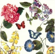 Decoupage Napkins |Victorian Summer Garden |Garden Napkins | Butterfly Napkins | Paper Napkins for Decoupage
