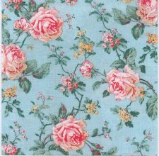 Decoupage Paper of Pink Roses on Blue | Paper Napkins for Decoupage