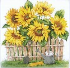 Decoupage Paper Napkins of a Sunflower Garden | Paper Napkins for Decoupage