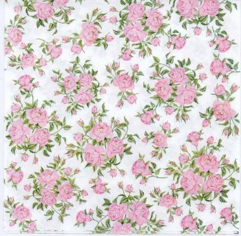 Decoupage Paper of Tiny Pink Roses Napkin | Paper Napkins for Decoupage