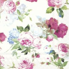 Paper Napkins of Mauve & Pink Roses