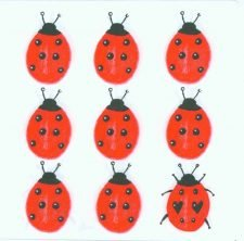 Nine Ladybugs | Ladybird Napkins | Paper Napkins for Decoupage