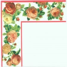 Roses Frame | Rose Napkins | Paper Napkins for Decoupage