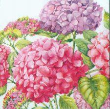 Wedding Paper Napkins Decoupage Hydrangeas Floral Napkins