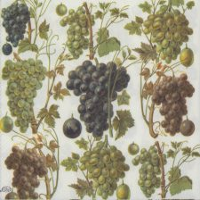 Wedding Paper Napkins|Wine Grapes|Wine Napkins|Harvest Napkins|Paper Napkins for Decoupage